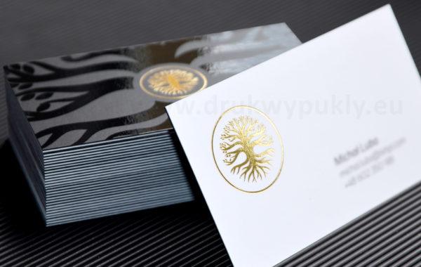 Kaszerowane wizytówki ze złoceniem