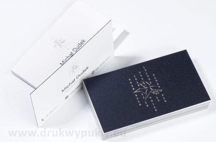 Kaszerowane, dwuwarstwowe wizytówki