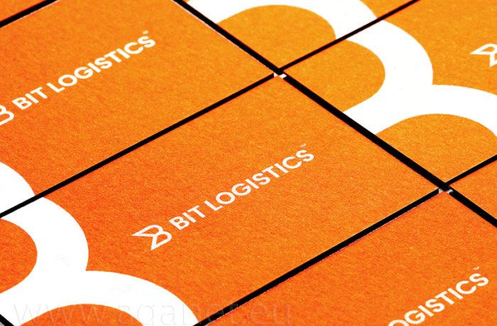 Sitodruk na pomarańczowym papierze